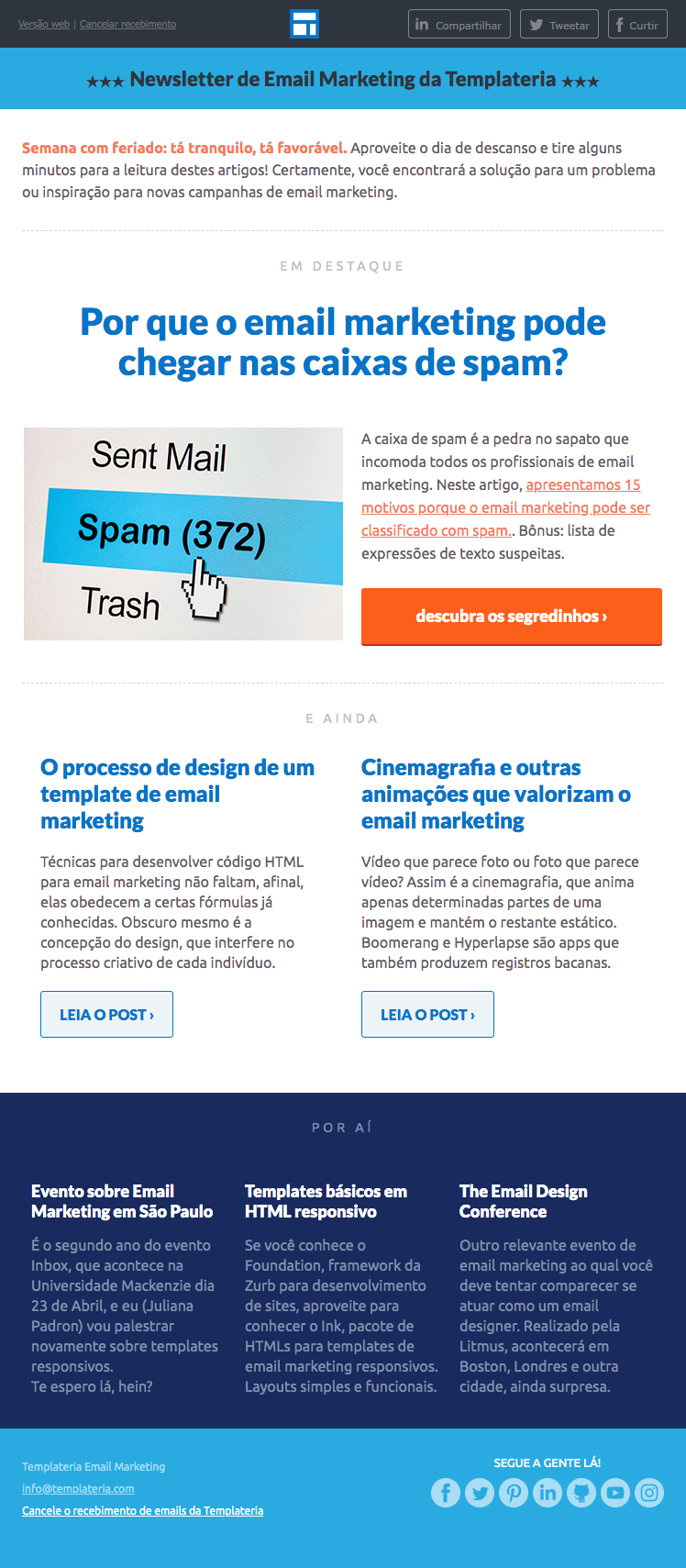 exemplo de email marketing tipo newsletter